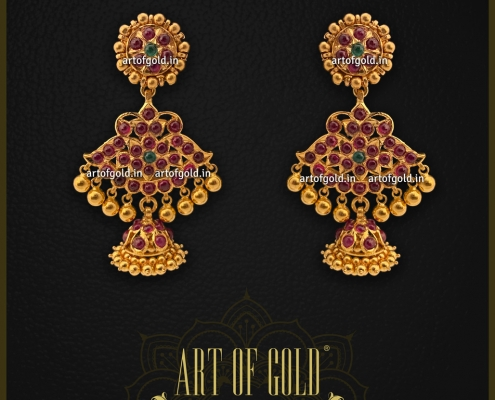 Antique Ruby Gold Earrings