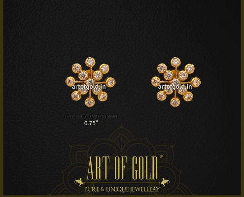 Traditional Gold CZ Studs