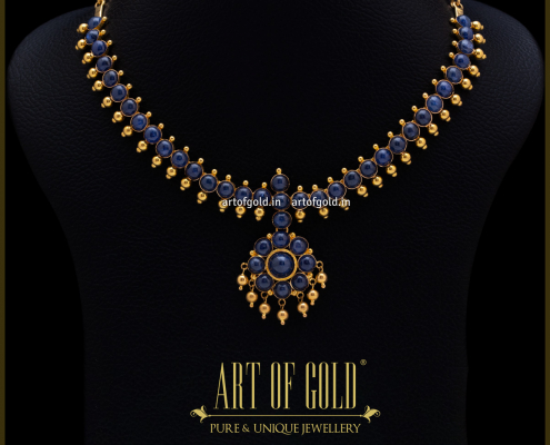 Blue Sapphire Necklace - Indian Style