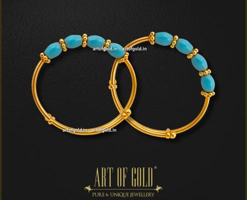 Blue Beads Baby Bangle