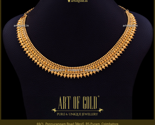 Reversible Gold Necklace