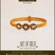 Gold Sapphire Bangle